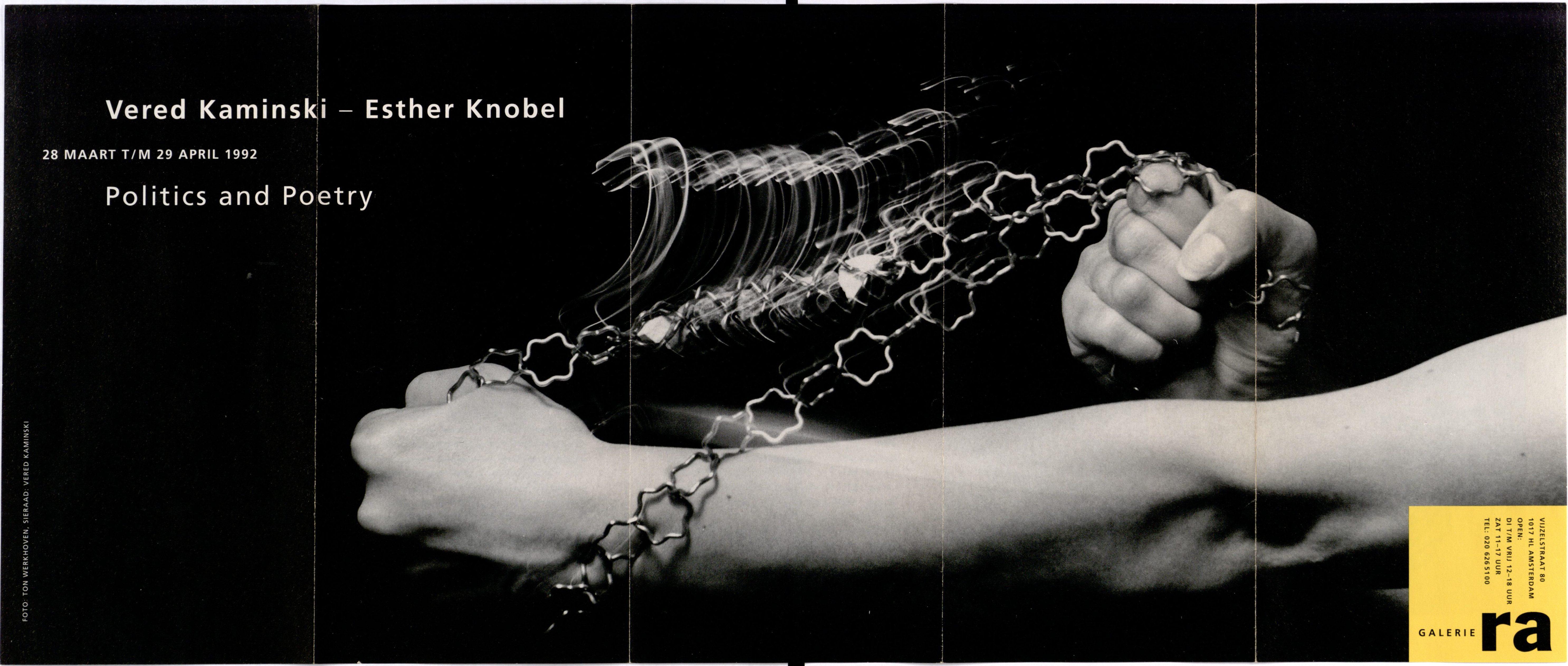 Ra Bulletin 65, maart 1992, voorzijde met foto van Ton Werkhoven© met sieraad van Vered Kaminski, drukwerk, papier, metaal