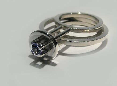 Ben Wisman, ring, 2012, metaal, steen