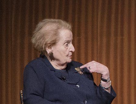 Madeleine Albright, LBJ Library, 2017. Foto Jay Godwin