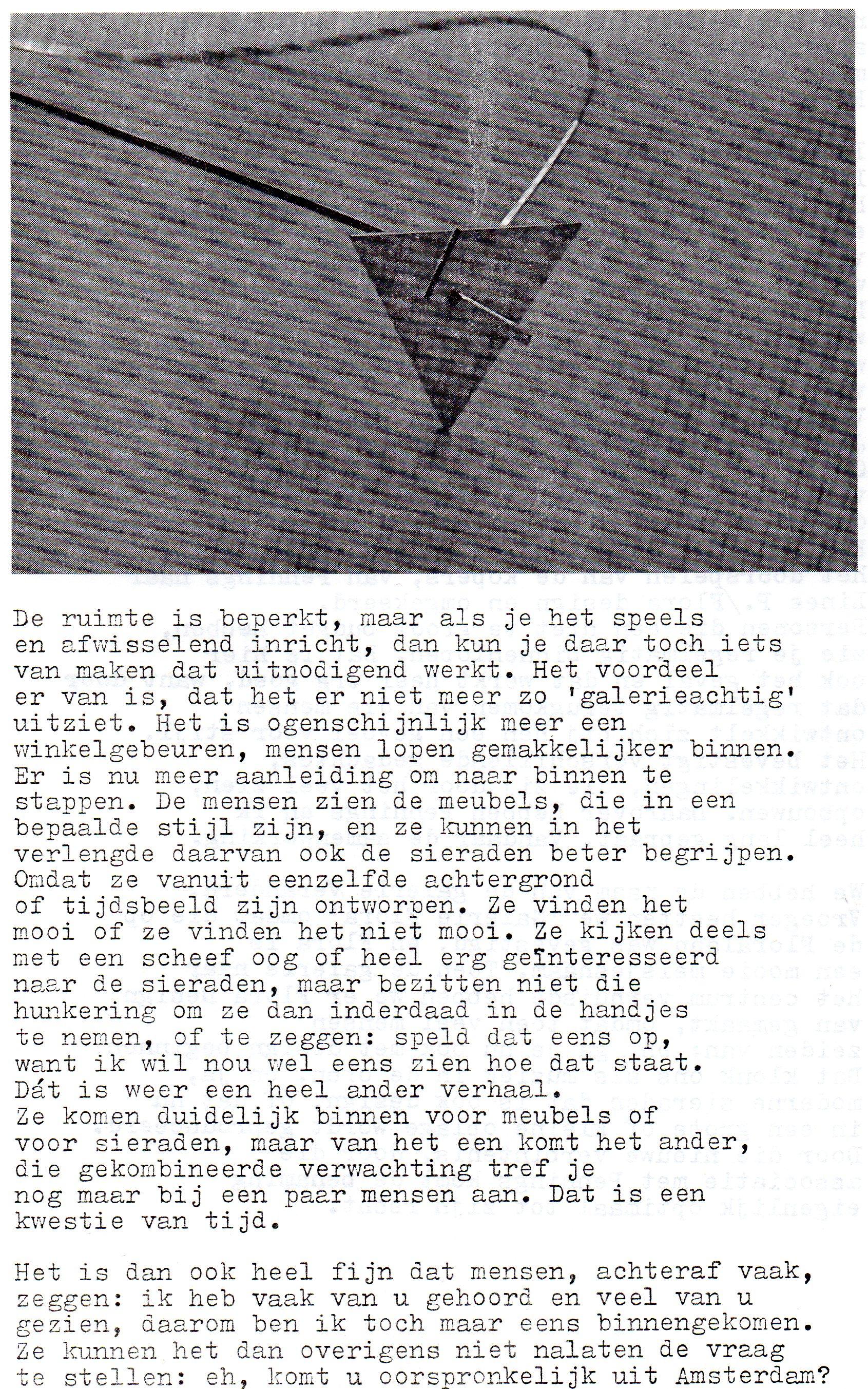 Clemens van den Broeck in het VES bulletin, 4, papier, typoscript