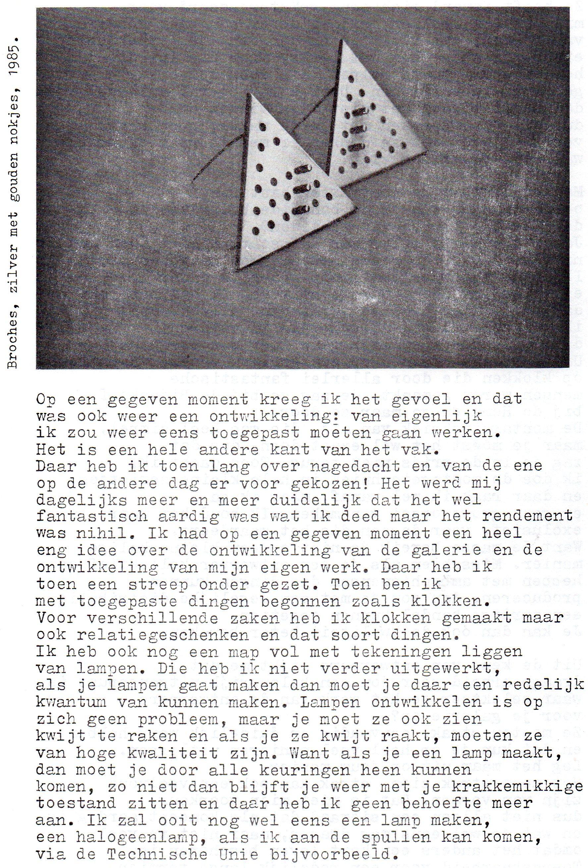 Clemens van den Broeck in het VES bulletin, 9, papier, typoscript