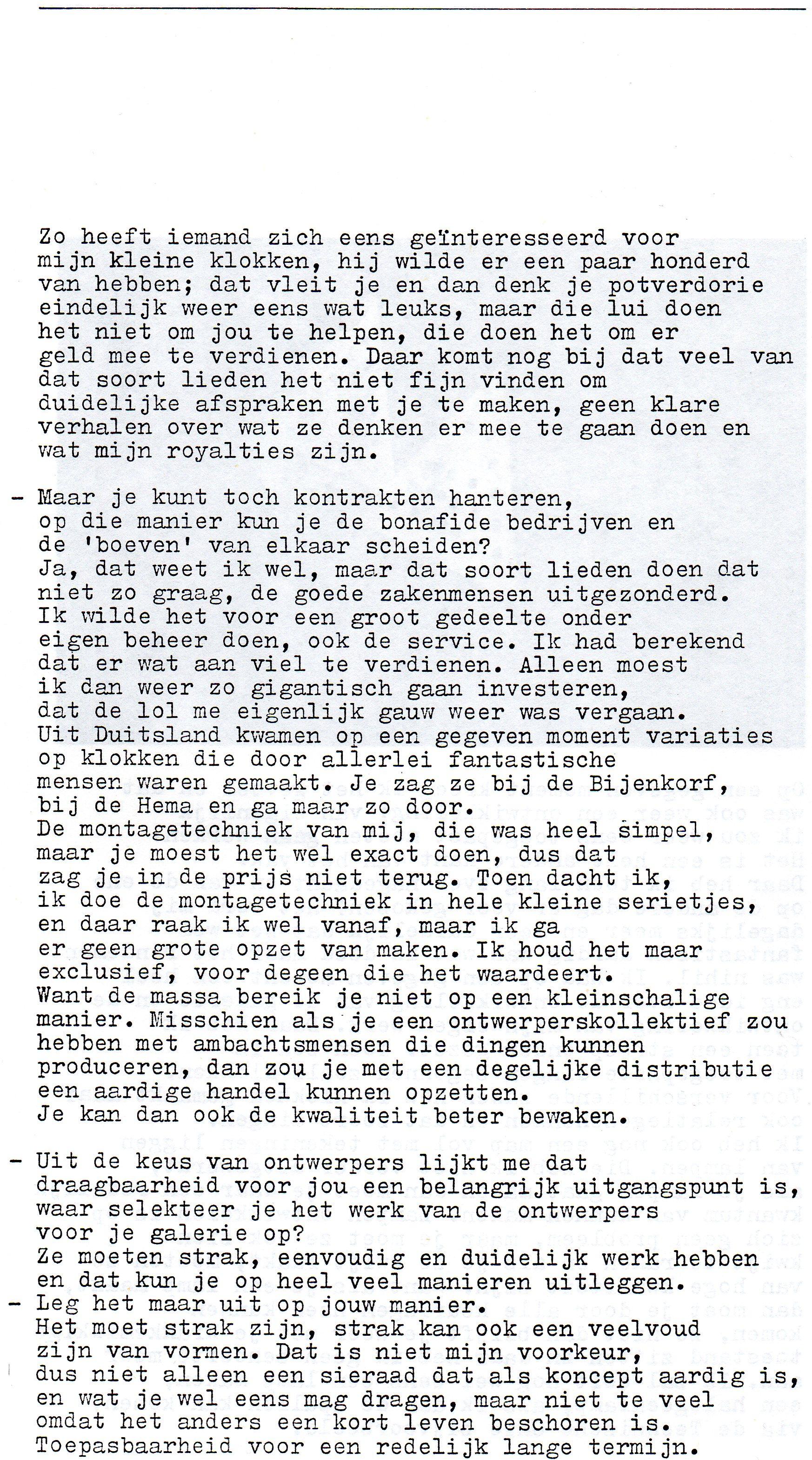 Clemens van den Broeck in het VES bulletin, 10, papier, typoscript