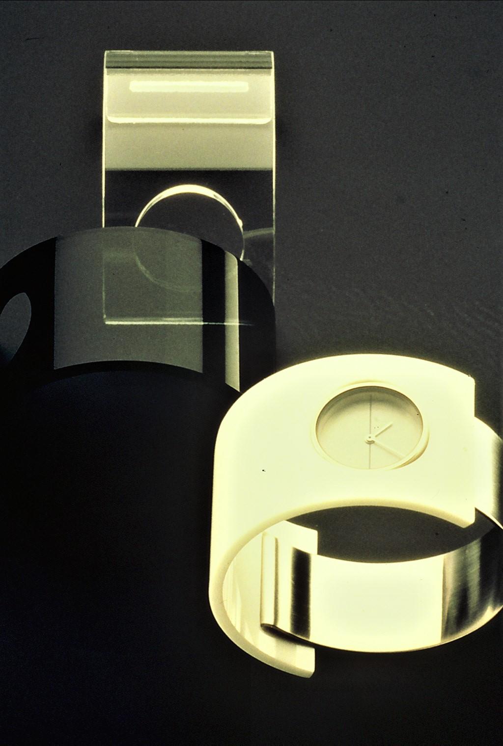 Bruno Ninaber van Eyben, horloge, 1975, roestvrij staal, acrylaat