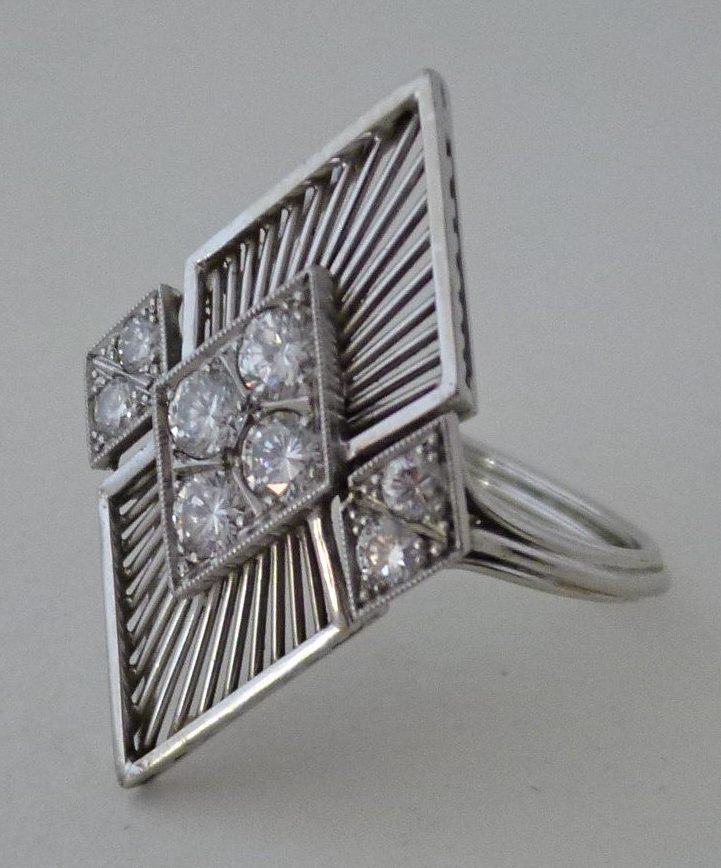 Archibald Dumbar, ring, 1960-1970. Particuliere verzameling, witgoud, briljant