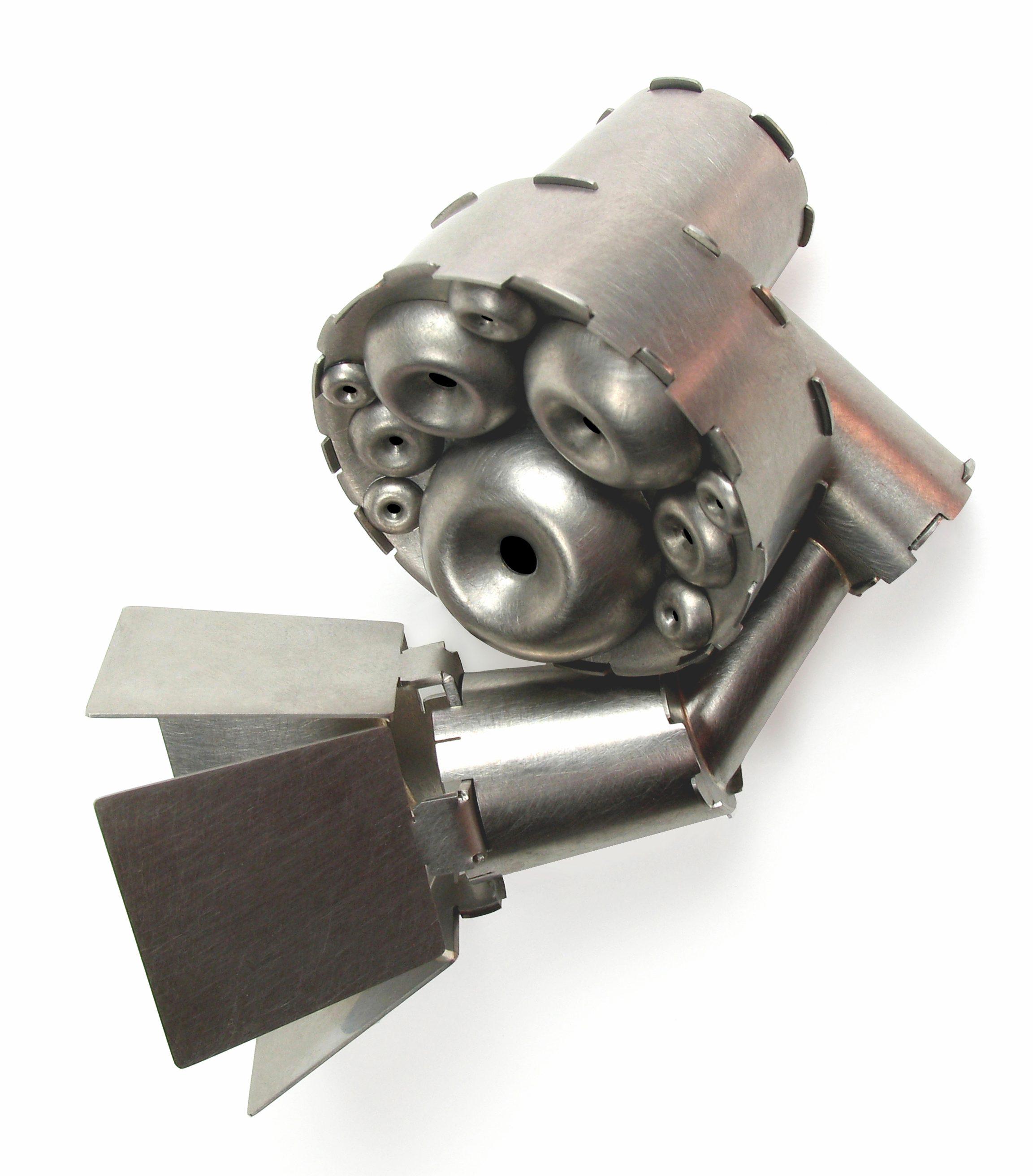 Simon Cottrell, Bulbs to Barn Doors, broche, 2010, Monel 400, roestvrij staal