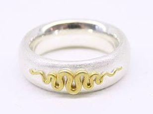 Godwin Baum, ring, 2014, zilver, goud