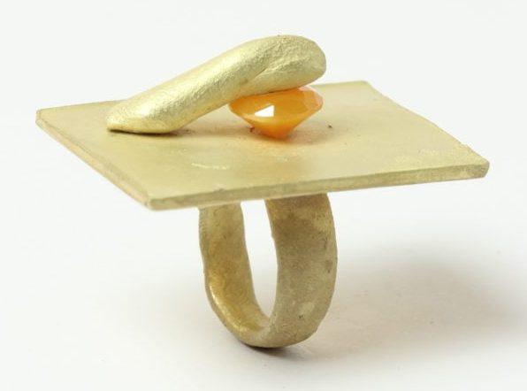 Karl Fritsch, Ring #439, ring, 2019, goud, cubic zirconia