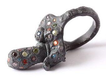 Karl Fritsch, ring, 2014, zilver, cubic zirconia