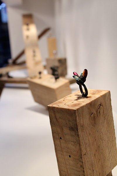 Karl Fritsch, ring op tentoonstelling in Gallery Funaki, 2012, metaal