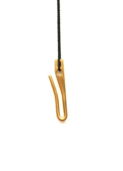 Warwick Freeman, Apron Hook, halssieraad, 2009, goud, koord