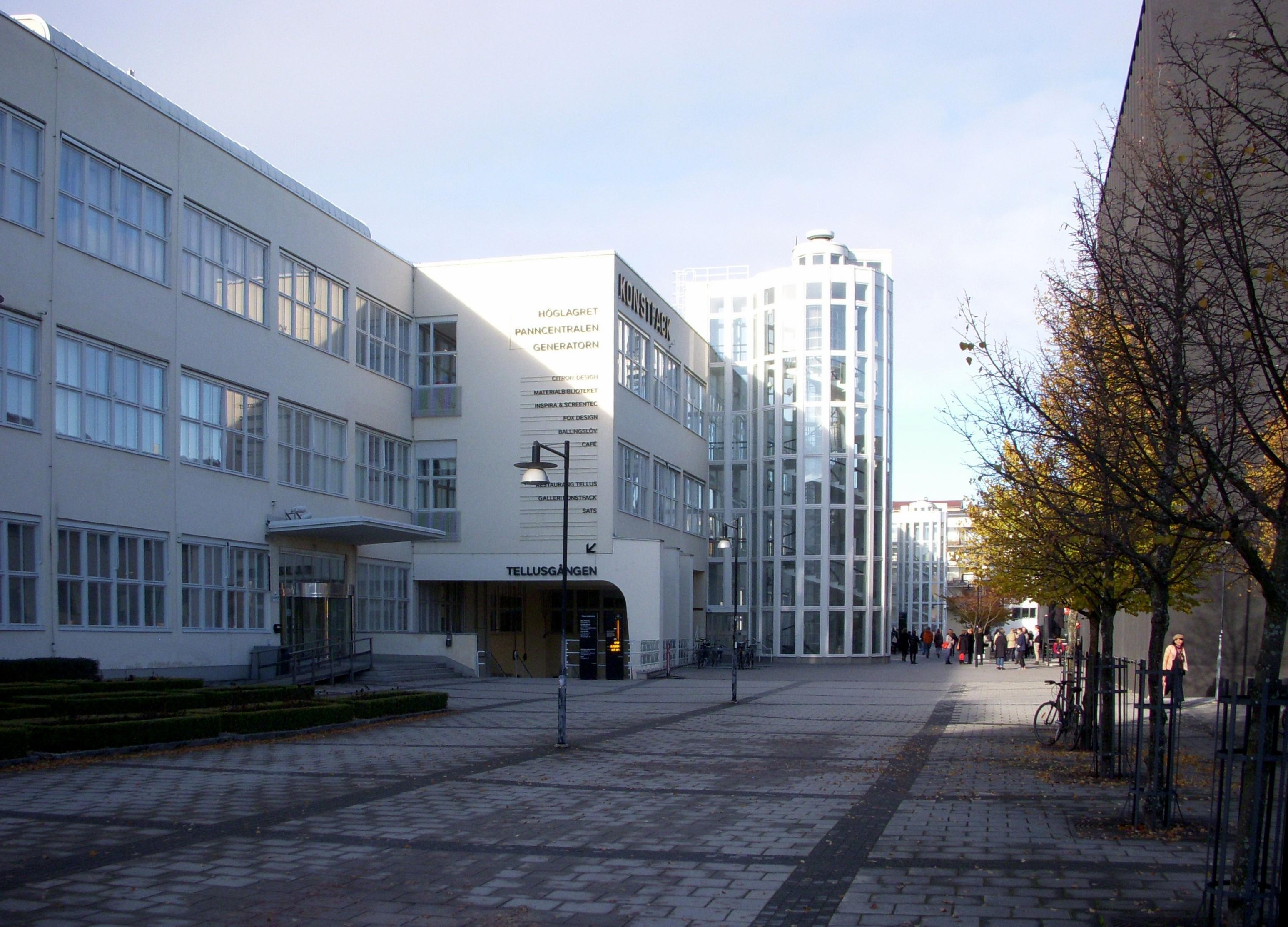Konstfack Skolan, 2010. Foto Holger.Ellgaard, kunstacademie, gebouw, exterieur