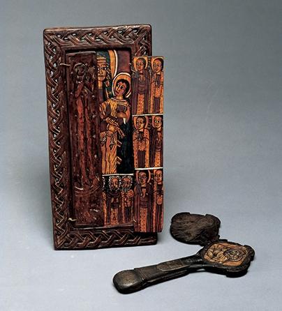 Objecten, Ethiopië, 1800-1899. Collectie World Jewellery Museum, hout, steen