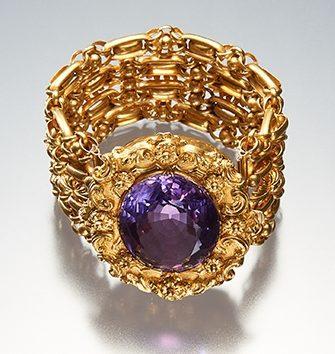 Ring, Italië, 1900-1999. Collectie World Jewellery Museum, goud, amethist