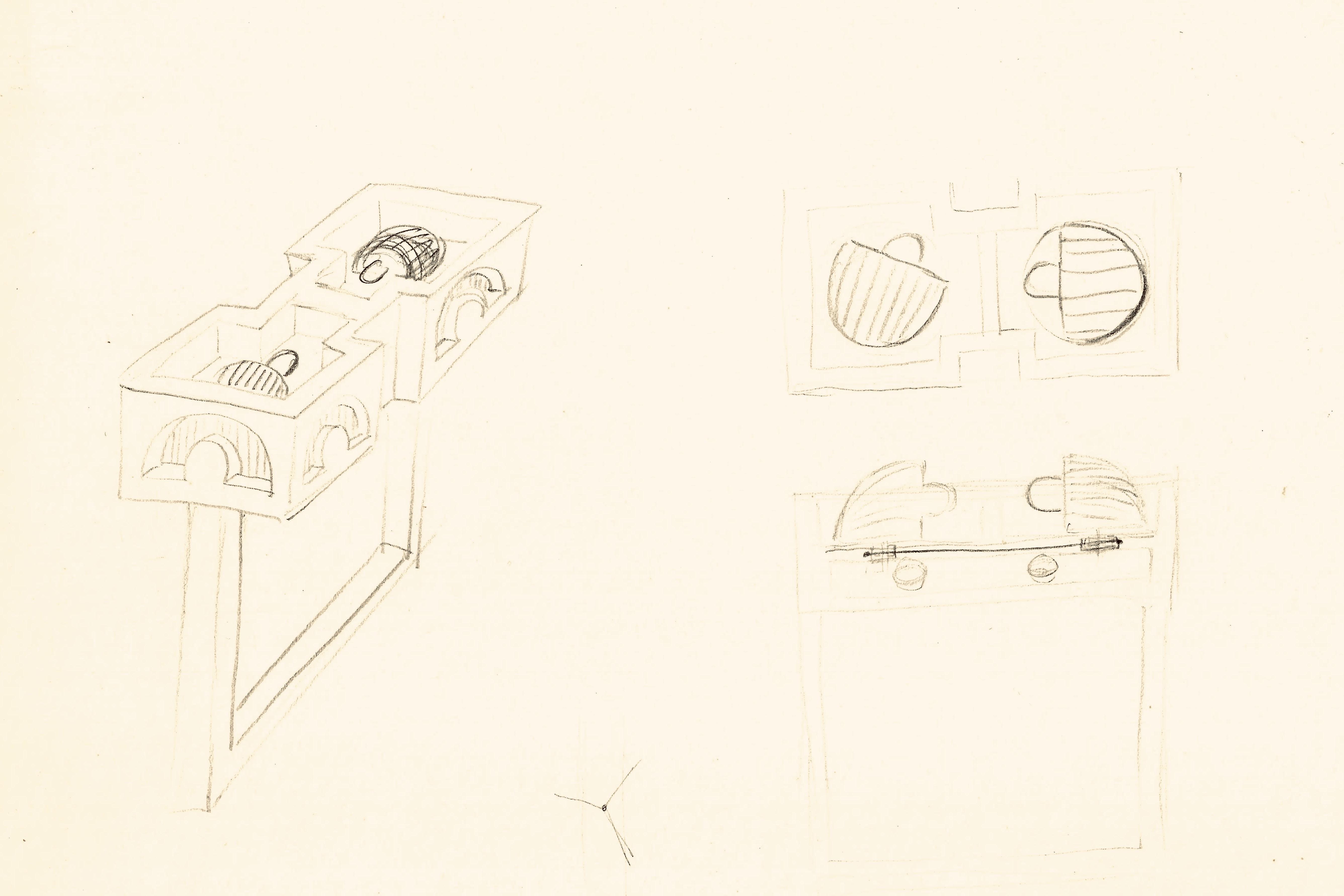 Claus Bury, tekening met ring, 1969. Collectie Boelen