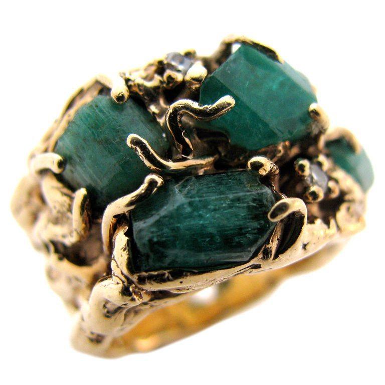 Arthur King, ring, circa 1960. Foto Kimberly Klosterman, goud, smaragd, diamant