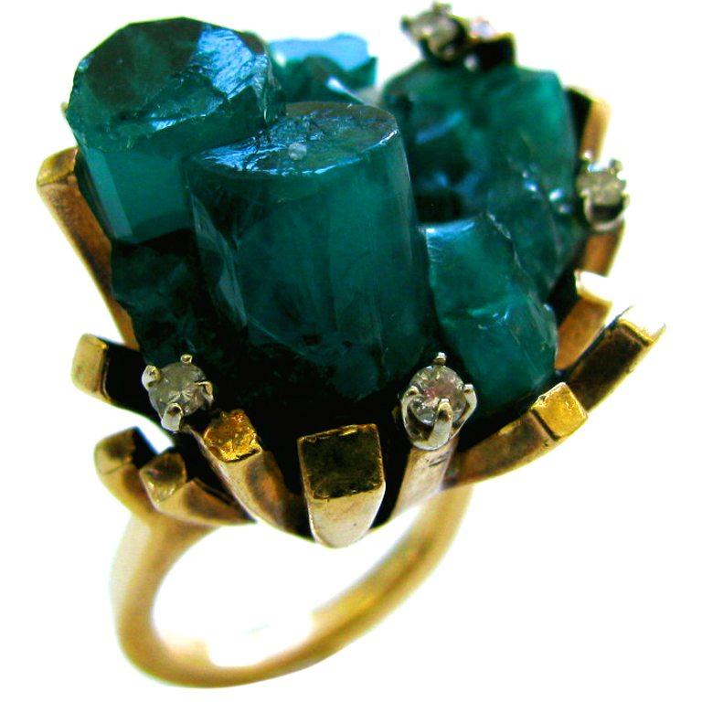 Ring, Verenigde Staten, circa 1970. Foto Kimberly Klosterman, smaragd, goud, diamant