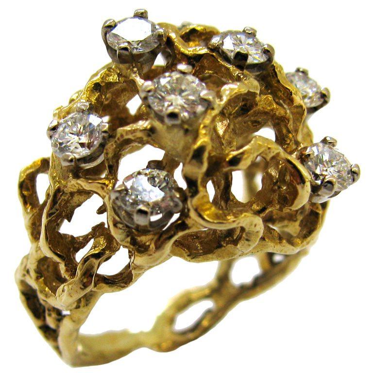 Ring, Engeland, 1970. Foto Kimberly Klosterman, goud, diamant