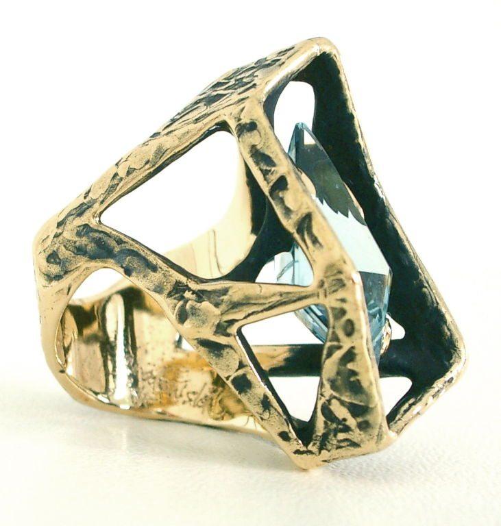 Grabowski, ring, circa 1960. Foto Kimberly Klosterman, goud, aquamarijn