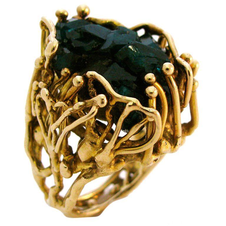 Ring, Verenigde Staten, circa 1970. Foto Kimberly Klosterman, smaragd, goud