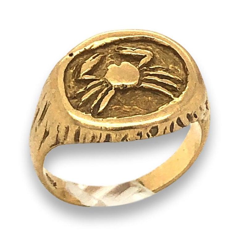 Tiffany, Cancer Zodiac ring, ring, 1970-1979. Foto Kimberly Klosterman, goud