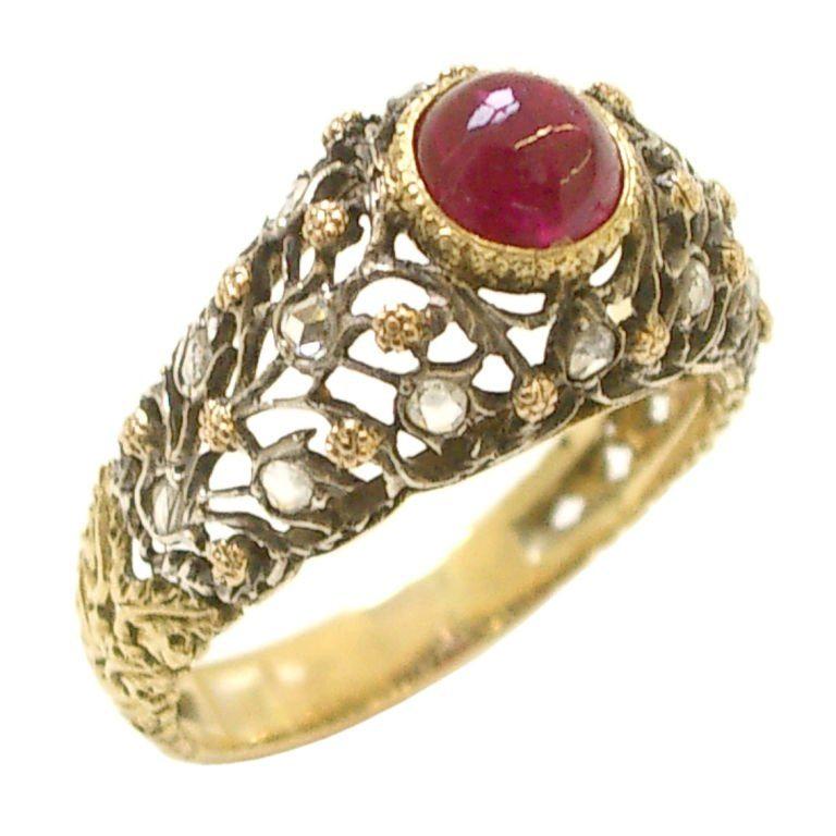Buccellati, ring, circa 1960. Foto Kimberly Klosterman, goud, diamant, robijn