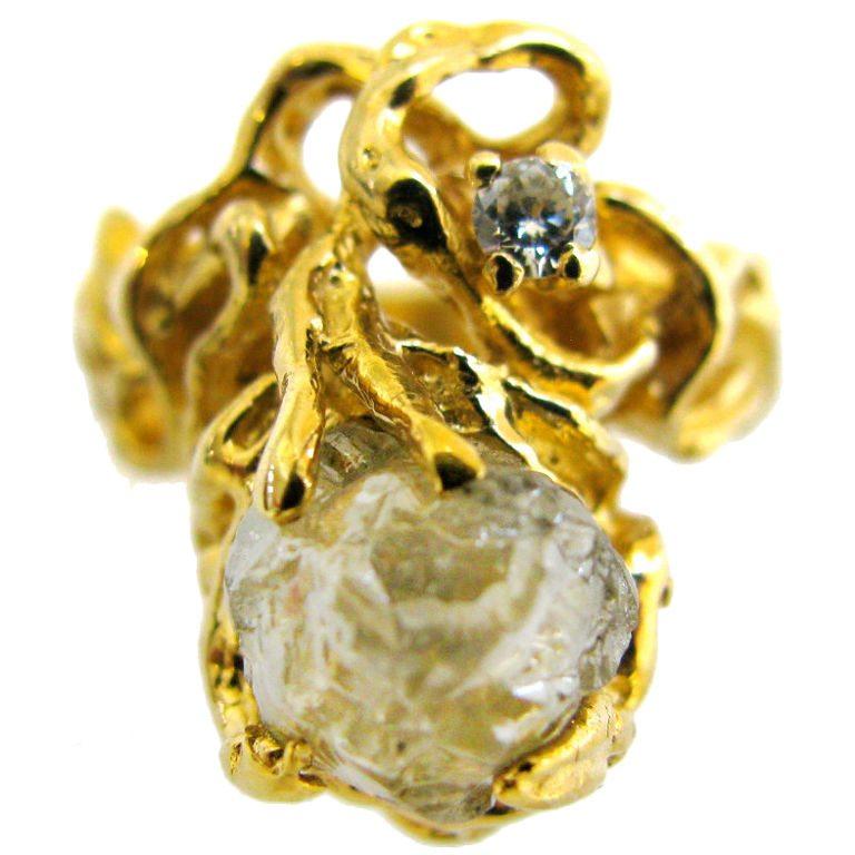 Ring, Verenigde Staten, circa 1970. Foto Kimberly Klosterman, goud, diamant, ruwe diamant