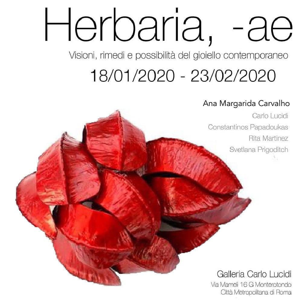 Ana Margardida Carvalho, Herbaria, -ae, Galleria Carlo Lucidi, 2020, broche,