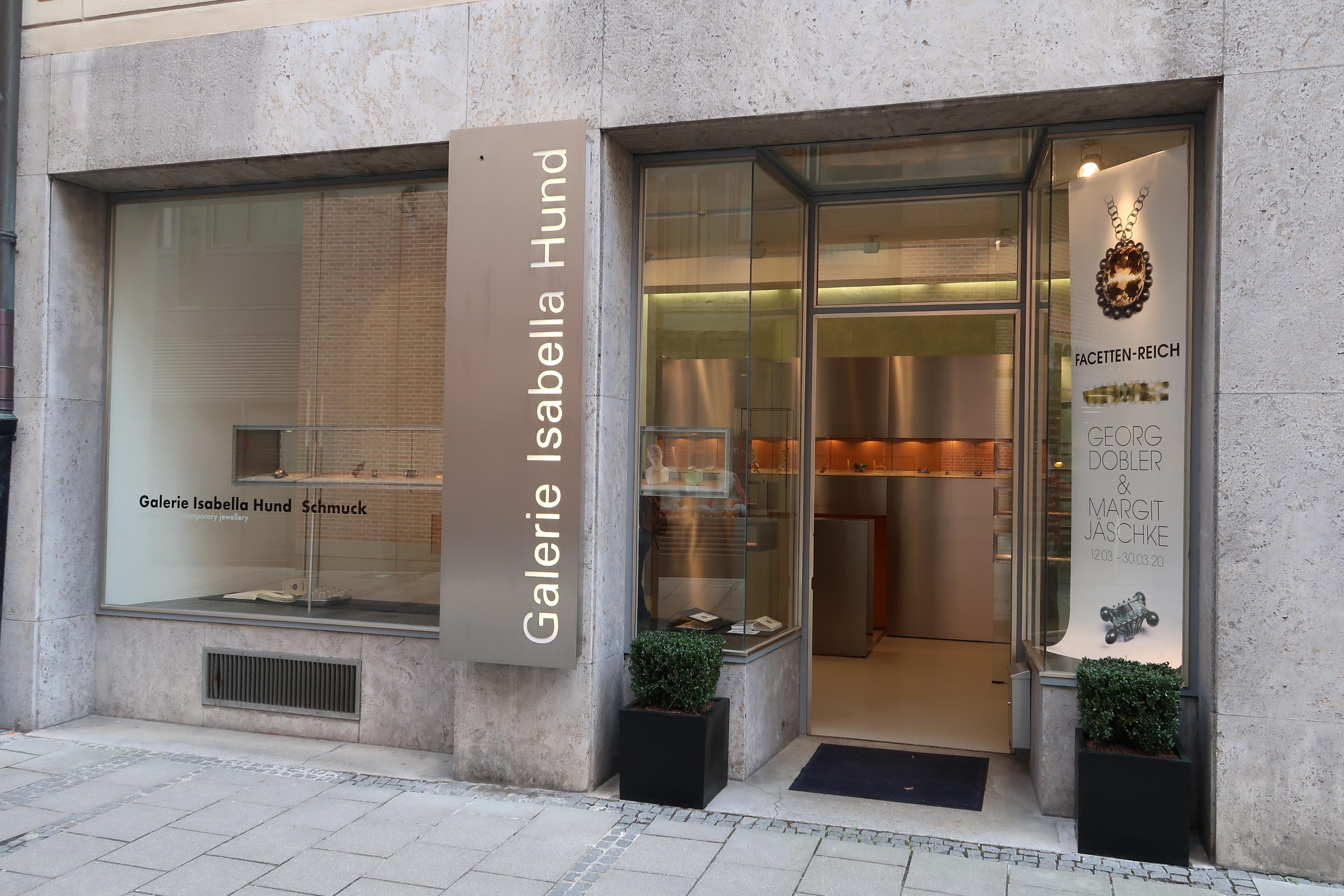 Galerie Isabella Hund, gevel, München, 12 maart 2020. Foto Coert Peter Krabbe