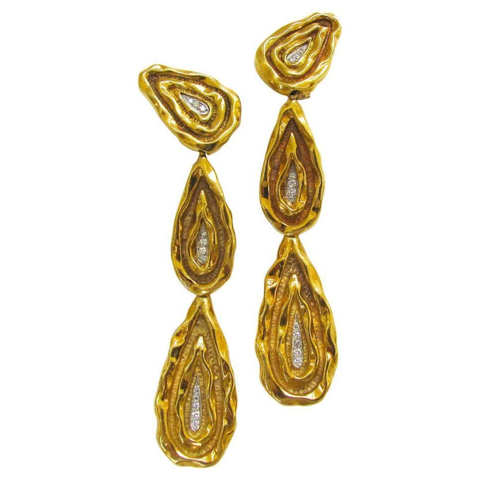 Neiman Marcus, oorsieraden, 1970-1979. Foto Kimberly Klosterman, goud, diamant