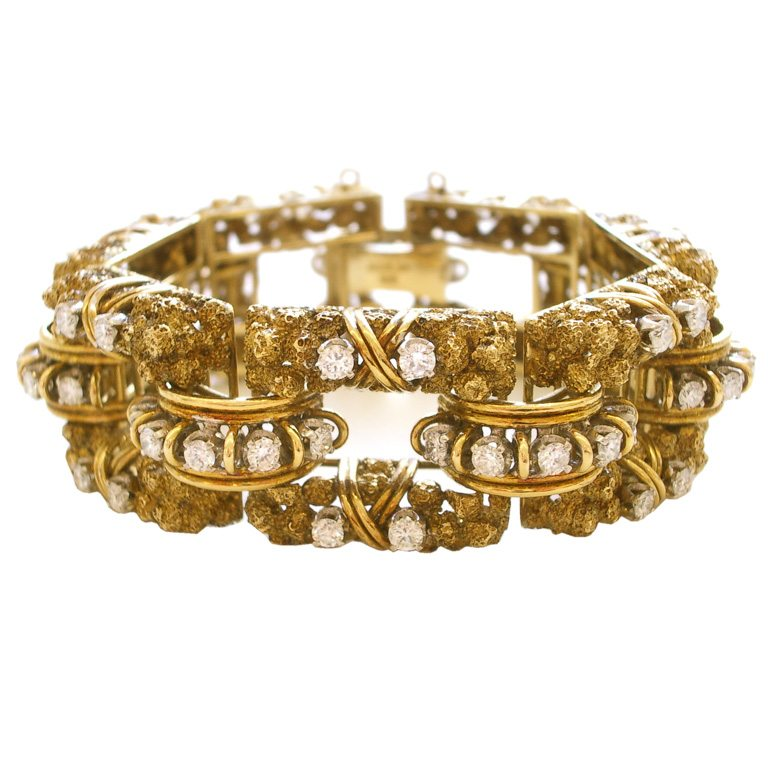 Armband, circa 1960. Foto Kimberly Klosterman, goud, diamant