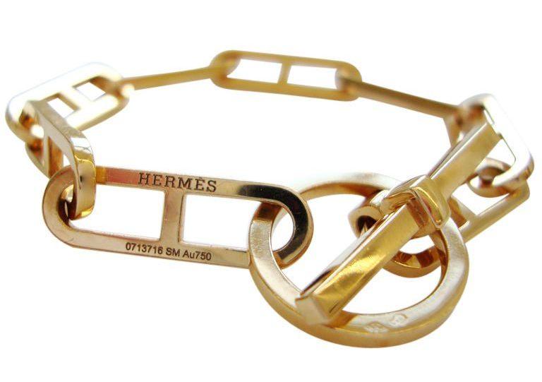 Hermès, armband, circa 1990. Foto Kimberly Klosterman, goud