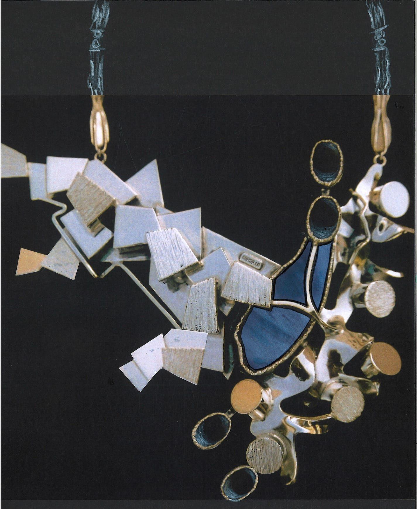 Alberto Gordillo, halssieraad, 1970-1979, zilver, lapis lazuli, onyx