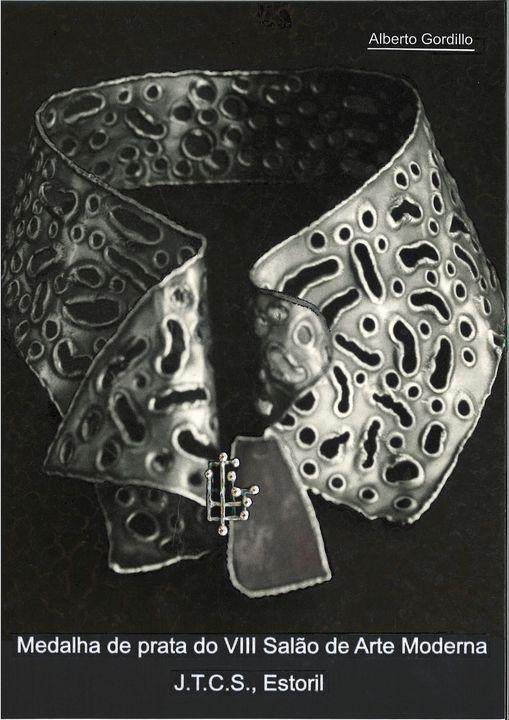 Alberto Gordillo, halssieraad, 1960-1969, zilver, agaat