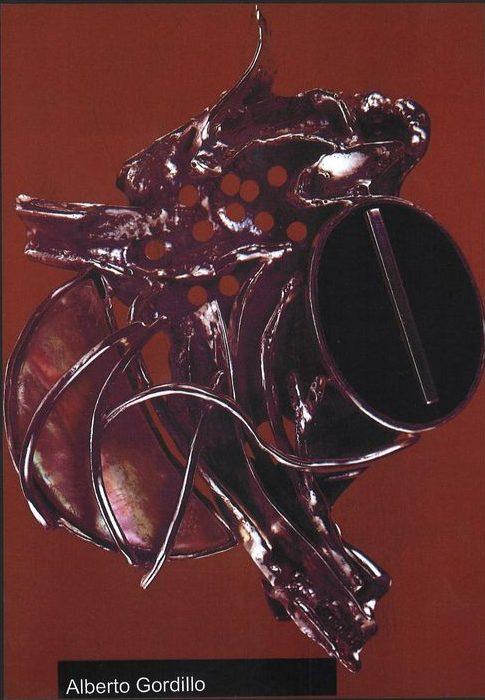 Alberto Gordillo, broche, 1969, zilver, parelmoer, onyx