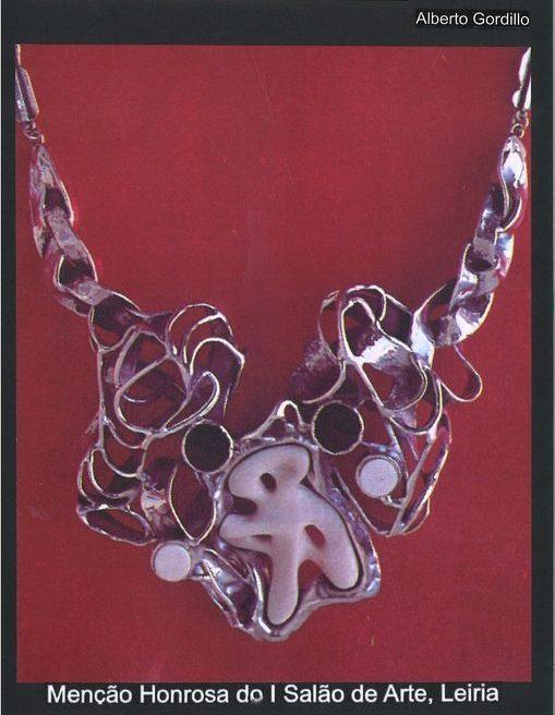 Alberto Gordillo, halssieraad, ivoor, zilver, onyx