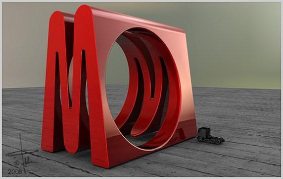 Jan Pijcke, Monogram ring M/W, ring, 2008