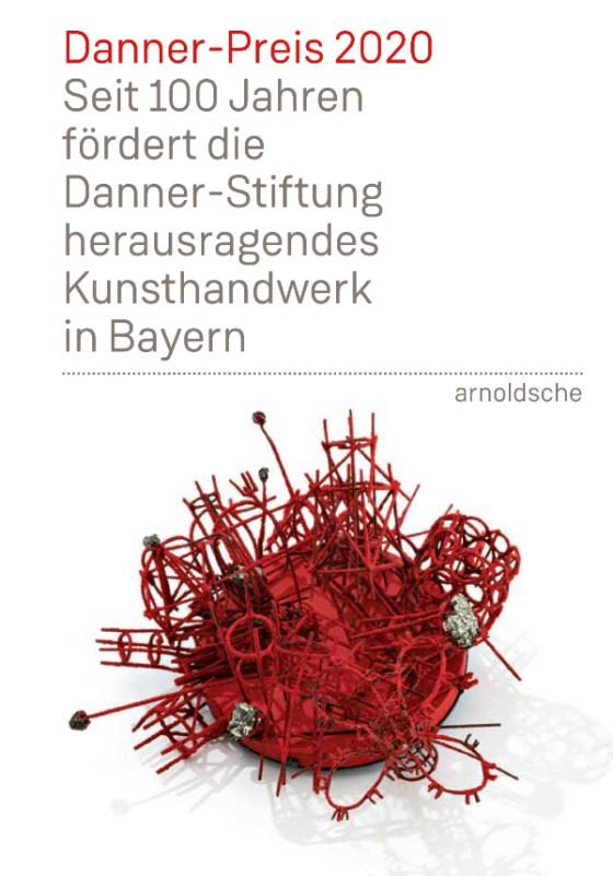 Danner-Preis 2020, boekomslag. Foto Arnoldsche, broche Bettina Dittlmann