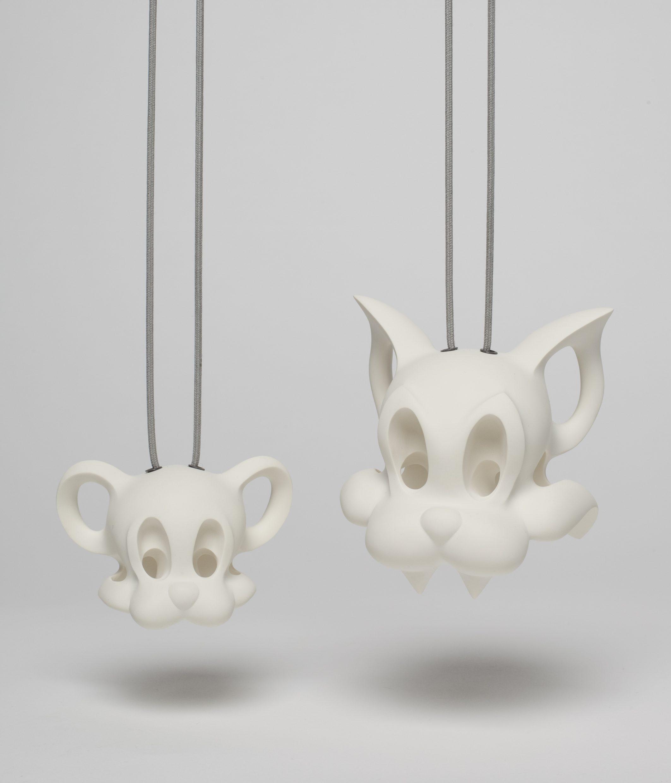 Alexander Blank, Memento Juniori, Tom & Jerry, halssieraden, 2012, hardschuim, zilver, katoen, Von Hier und Dort, 2015