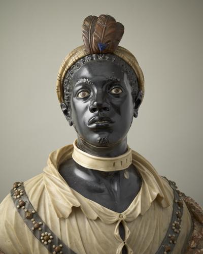 Jan van Nost, Afrikaanse man. Collectie Royal Collection Trust, RCIN 1396. Royal Collection Trust / © Her Majesty Queen Elizabeth II 2021, marmer,