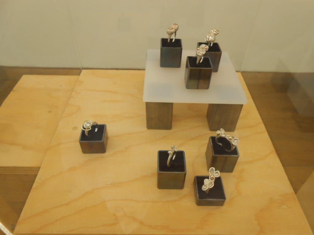 Papier ZILVER Staal, Galerie Niek Waterbolk, 2021. Foto Maja Houtman, ringen, tentoonstelling, zilver