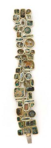 John Iversen, Dream of Tokyo, armband, 2014, goud, email