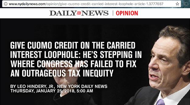 NY Daily News Andrew Cuomo headline