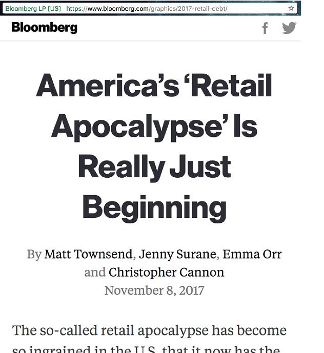 Bloomberg headline on 'Retail Apocalypse'
