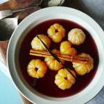 Satsumas Poached in Red Wine