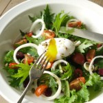 Poached Duck Egg Salad