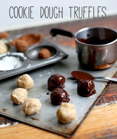 Messy Kitchen Baking: Cookie Dough Truffles