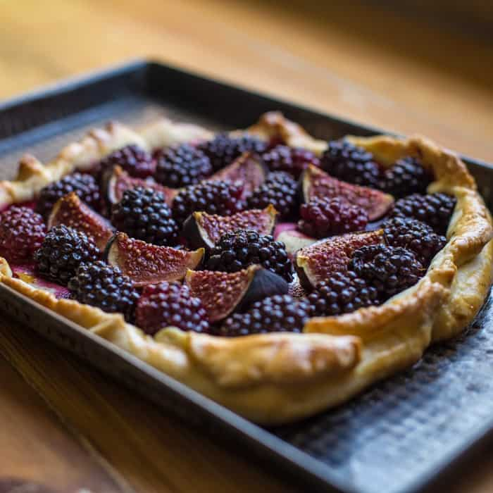 Fig and Blackberry Galette
