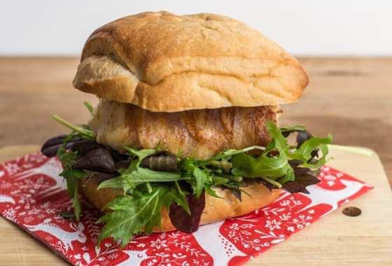 Cod and Pancetta Burger