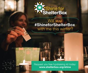 #ShineForShelterbox
