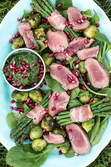 Festive Dirty Steak Salad